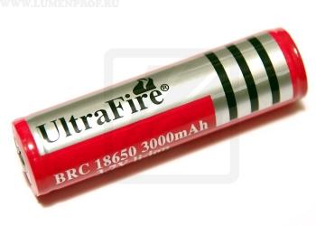 Аккумулятор Li-ion 18650 UltraFire 3.7V 3000mAh