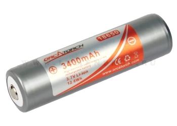 OrcaTorch 18650pro (Panasonic) Литий-ионный аккумулятор с защитой и большой емкостью 3400mAh
