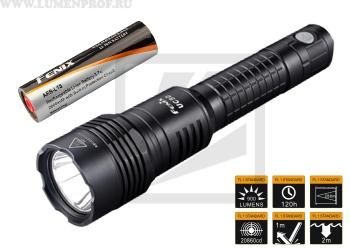 Fenix UC50 (XM-L2 U2) Мощный аккумуляторный фонарь с возможностью заряда от USB