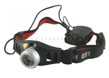 Atum H7 (Cree XR-E) Бюджетный налобный фонарь с линзой на батарейках ААА