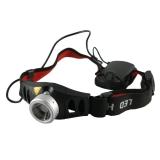 Atum H7 (Cree XP-E) Бюджетный налобный фонарь с линзой на батарейках ААА