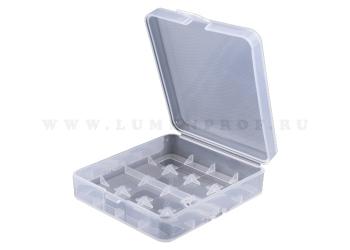 Пластиковый контейнер для аккумуляторов 4 х 18650