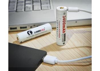 LUMINTOP LM34C Аккумулятор 18650 с разъемом micro USB для зарядки, 3400мАч