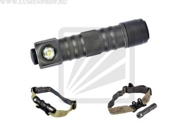 UltraFire UF-H2B (Q5) Компактный налобный фонарь с металлическим корпусом и питанием от элементов АА.